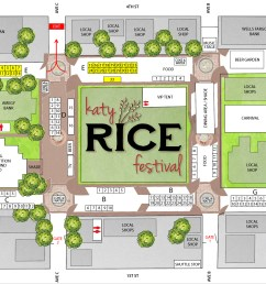 a layout of the katy rice festival layout courtesy city of katy [ 2222 x 1338 Pixel ]