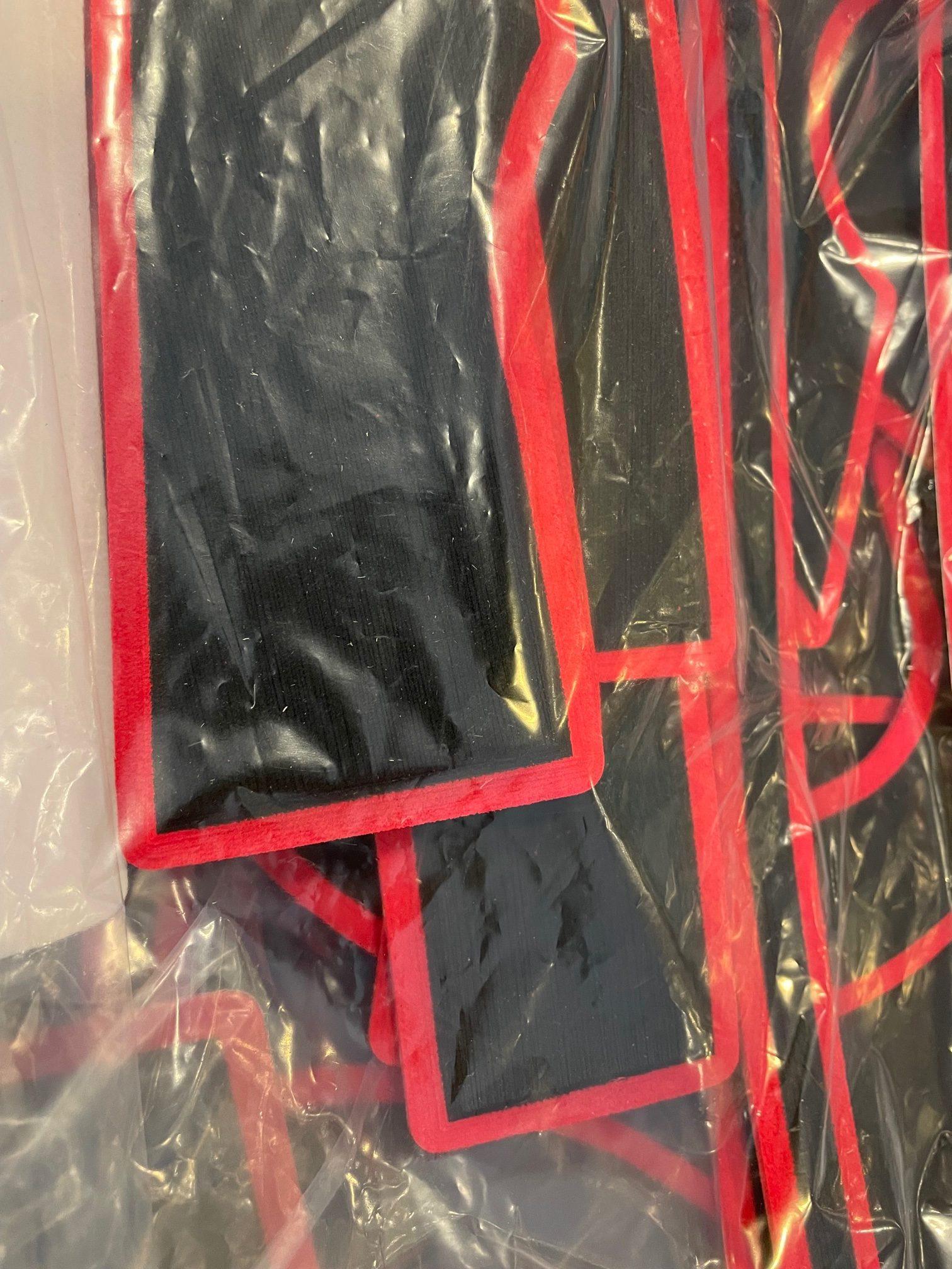 Vibe Shearwater MarineMat kayak floor kit - black with red trim
