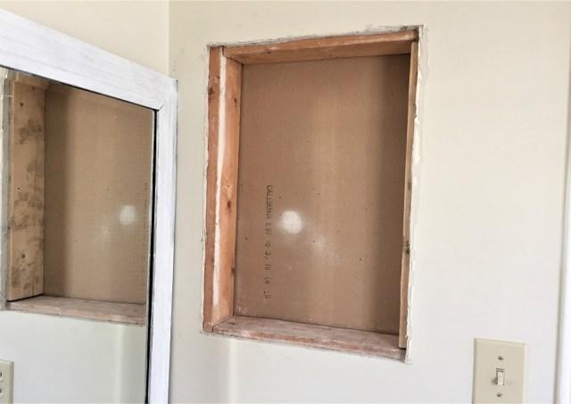 medicine cabinet, drywall