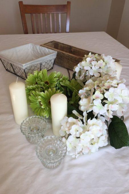 spring centerpiece, flowers, diy centerpiece