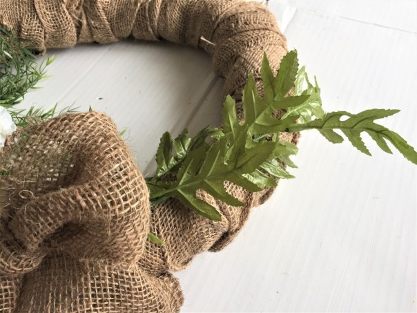 Spring wreath, dollar store wreath, poppy wreath, burlap wreath