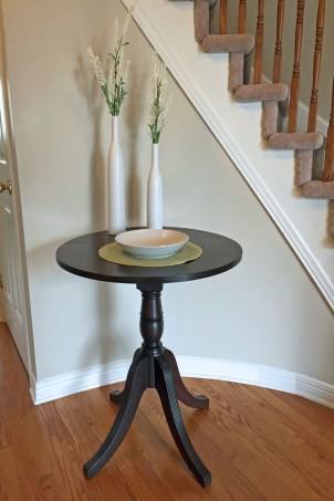 entry way table makeover, dyncan phyfe table, table refinishing