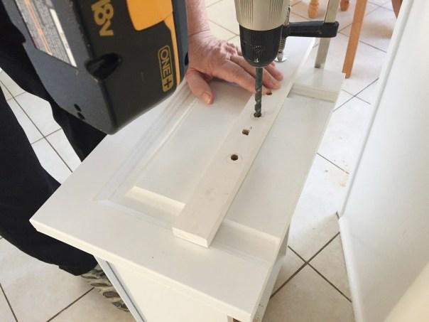 kitchen drawer cup pull installaation