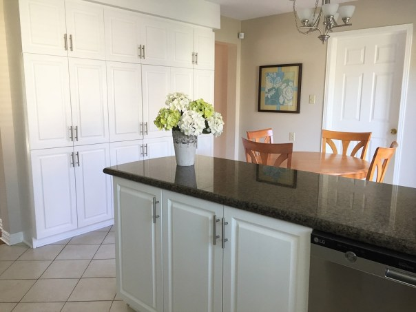 painted white kitchen
