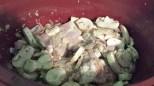 chicken, mushrooms, shallots, garlic, a SMIDGE *wink* of wine, rosemary, with a dash of Sazon
