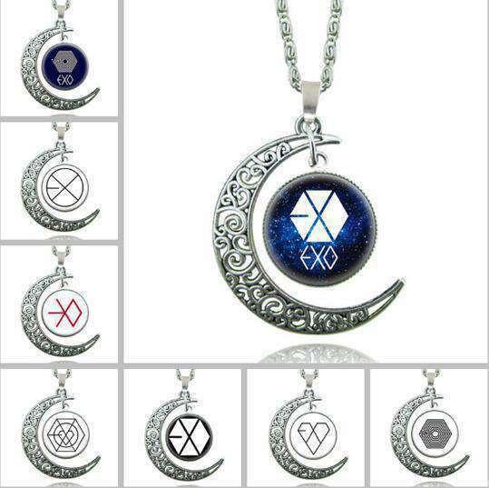 Pendant Necklaces EXO Moon Glass pendants Necklace - The Kdom
