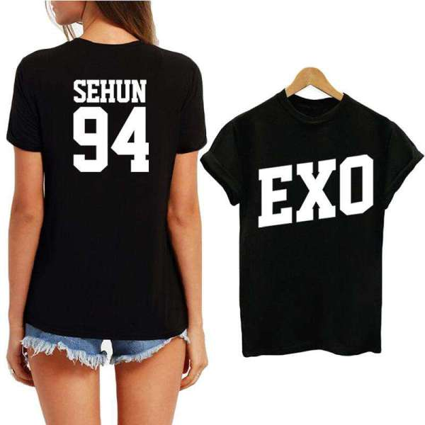 T-Shirts EXO Cotton T-Shirt - The Kdom