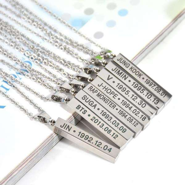 Necklaces Bangtan Boys Members Name Necklace - The Kdom