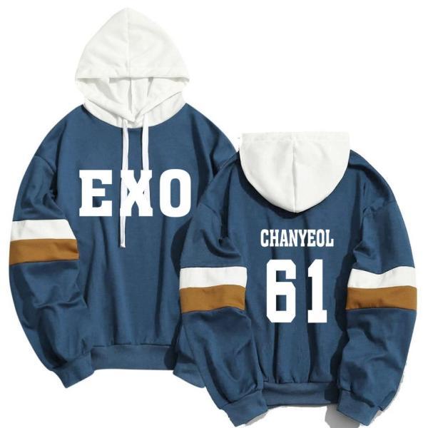 Hoodies & Sweatshirts EXO Member Name Print Hoodie - The Kdom