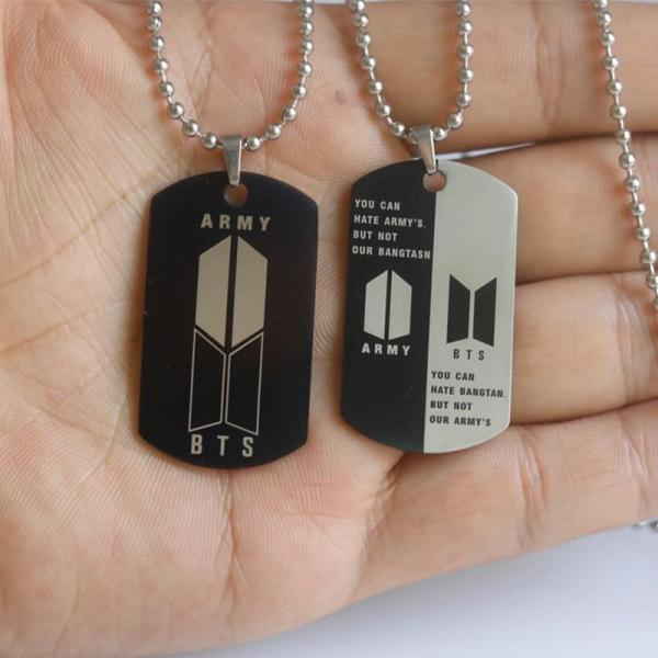 """Pendant Necklaces """"ARMY"""" Stainless Steel Necklace - The Kdom"""