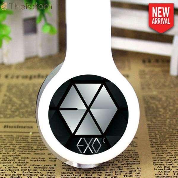 Headphone/Headset EXO White Adjustable Stereo Headset - The Kdom