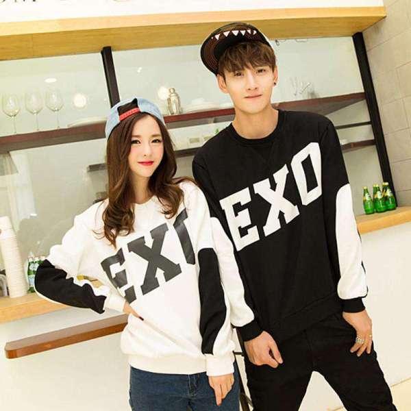 Sweaters EXO Printed Solid Sweatshirt - The Kdom