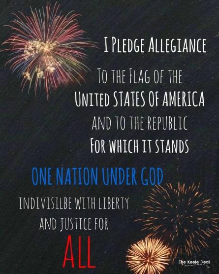 Free Patriotic Printable - I pledge Allegiance