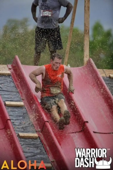 Last weekend Jared ran his second mud race the Warrior Dash. He ran this race with a couple Carmedic partners. This race was in Maryland and quite a bit different than the race in Florida.