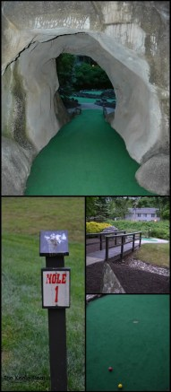 Mini Golf Staying at the Shawnee Village Resort, Pocono Mountains, PA