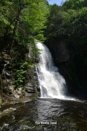 Bushkill Falls - Weekend Exploring in the Poconos Mountains - Are you planing a trip to the Pocono Mountains or dreaming of a future vacation? Here is what we did on our weekend in the Poconos, maybe you can add some of these ideas to your vacation itinerary.