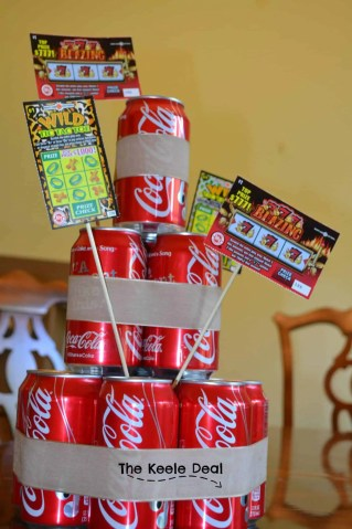 "How to make a Soda Can Cake with a 12-pack of soda. I love how fast and easy it was to make this soda cake - it ended up being the perfect size. The beauty of this ""Soda"" cake is that you can use any canned drink it doesn't have to be soda. It's a great gift idea when you don't know what to get."