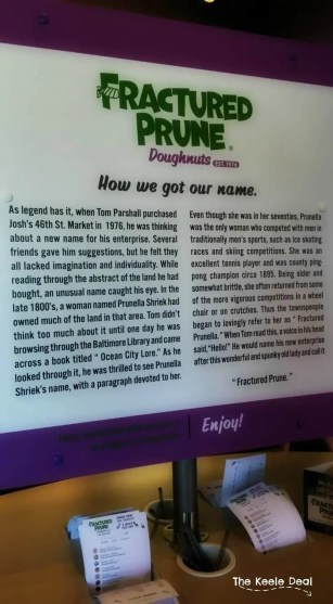 Fractured Prune Doughnuts - History of the name