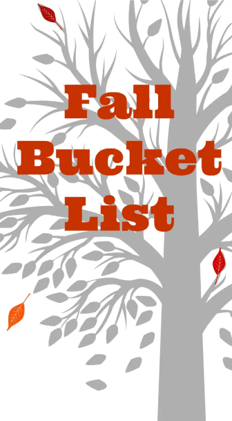 Fall Bucket List - This is our families fall bucket list, we are excited for the cooler temperatures and beautiful fall colors. Our Bucket List Includes Pumpkin patches, Hot Chocolate and much more.