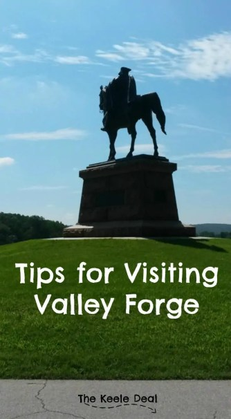 Tips for Visiting Valley Forge Valley Forge is the site of the winter encampment of the continental army, during the American Revolution. The army was camped here for about 6 months.