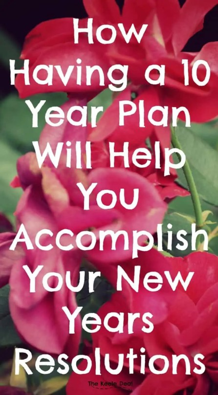 Have you ever noticed that successful people typically know where they are going and how to get there? How do they know what the next step is to get to the end result they want? I believe they know what to do to achieve the goal because they have a 10 year plan, or something like it.