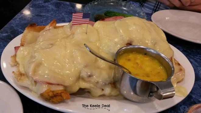 "Grilled Chicken Breast ""Cordon Bleu"" with Virginia Ham and Melted Swiss at Harold's New York Deli in Edison New Jersey"
