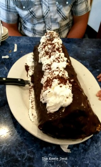 "Supersized ""Chocolate Éclair"" with Bavarian Cream Filling at Harold's New York Deli in Edison New Jersey"