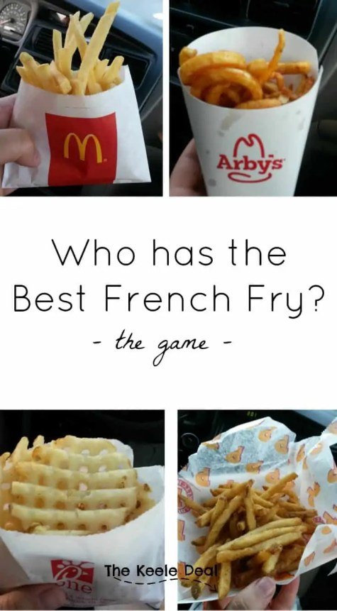 Who has the Best French Fry? The Game. This is an inexpensive fun family activity, don't forget your free printable thekeeledeal.com