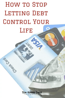 How we are stopping debt from controlling our lives. Steps we are taking to kick our debt to the curb. thekeeledeal.com #debt #savingmoney #money #moneytips #finances