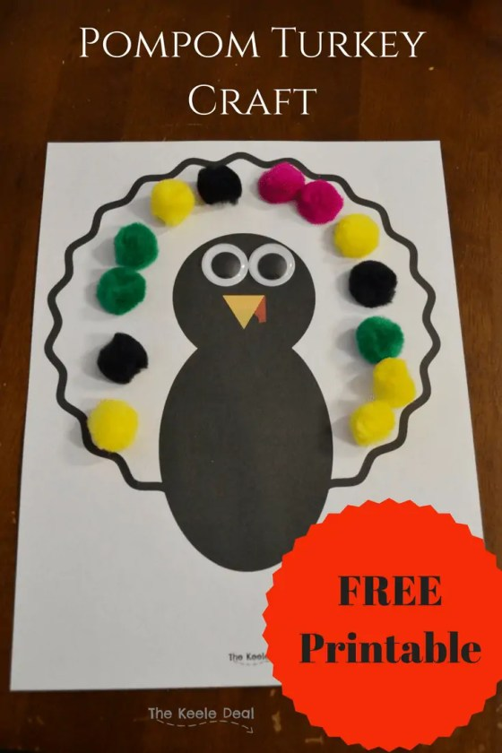 This fast and easy googly eye pompom turkey is the perfect toddler craft. It takes almost no prep and it makes very little mess. A win in my book! #turkey #turkeycraft #toddlercraft #thanksgivingcrafts #thanksgivingtoddlercraft #toddleractivity #pompomturkey #googlyeyecraft #Thanksgiving