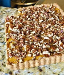 Pumpkin Pecan Cheesecake Tart