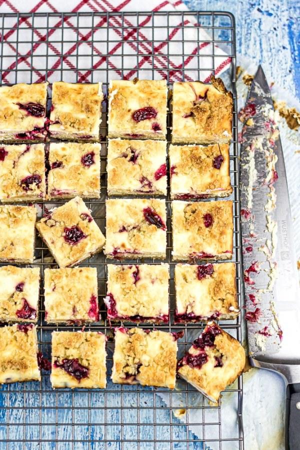 Sugar Free Cranberry Cheesecake Bars