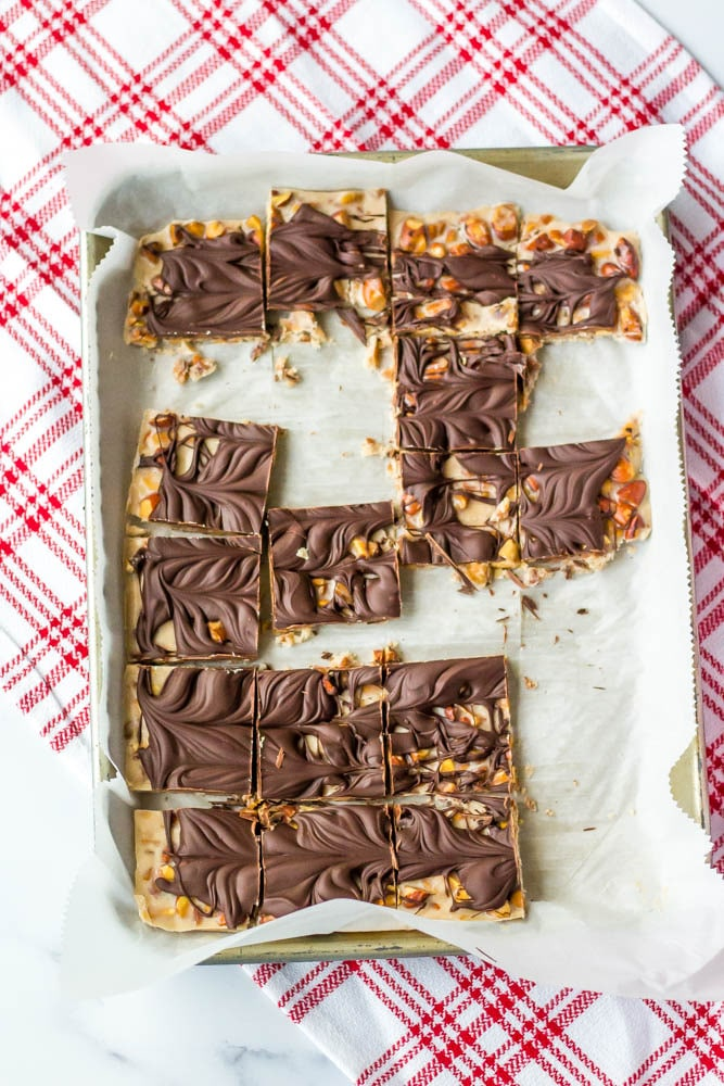 Keto Toffee Crunch...great to keep in the freezer and super quick to make.