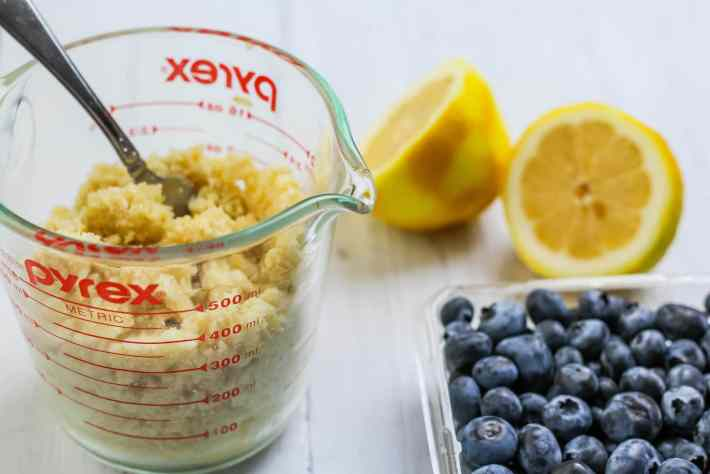 Lemon Blueberry Crumble topping