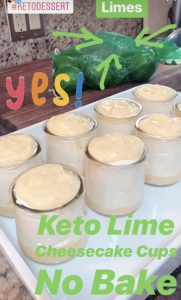 Keto Lime Cheesecake Cups are super easy and very elegant for a Sunday BBQ or a ladies lunch or just after dinner on a Tuesday night.