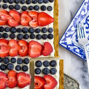 Low Carb 4th of July Cheesecake