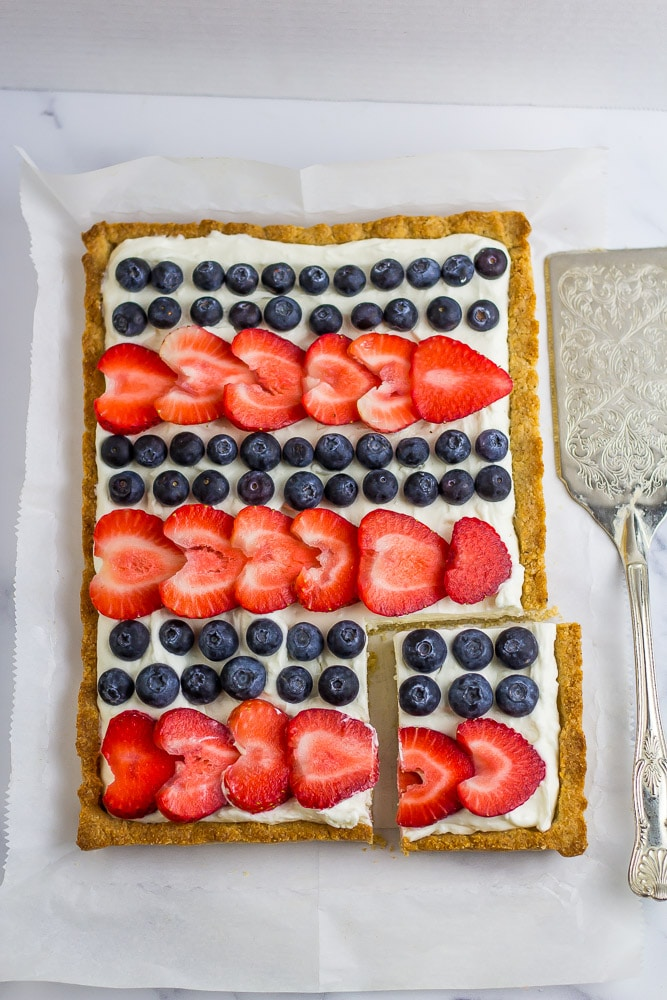 Red White and Blue Cheesecake Bars