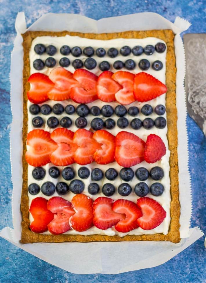 Red White and Blue Cheesecake Tart