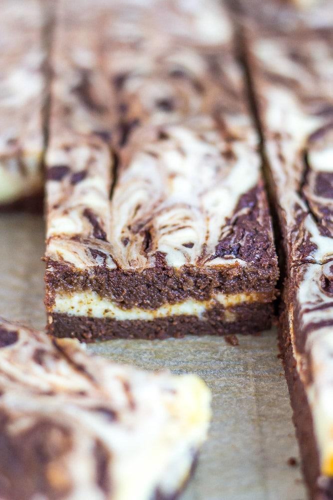 Keto Brownies swirled with Cheesecake