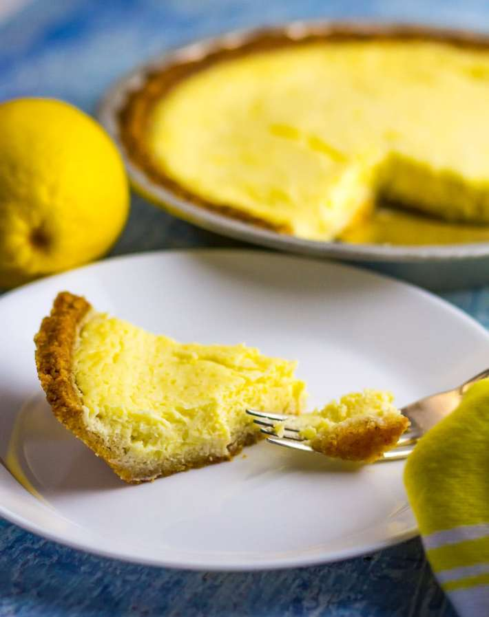 Low Carb Lemon IceBox Pie