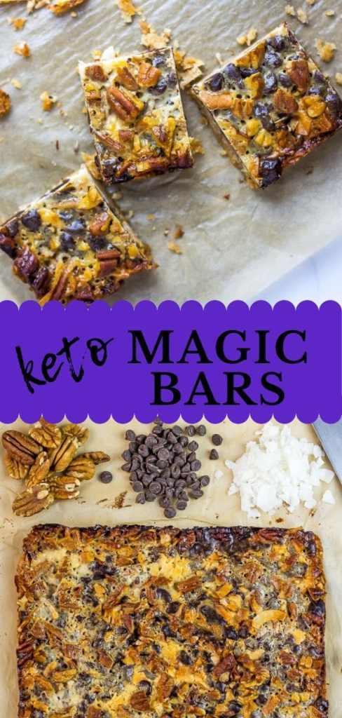 Low Carb Keto Magic Bars