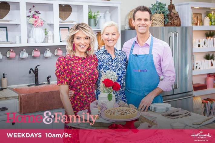 The Kellie Kitchen with Hallmark Channel's Home & Family Show Debbie Matenopoulos and Cameron Mathison