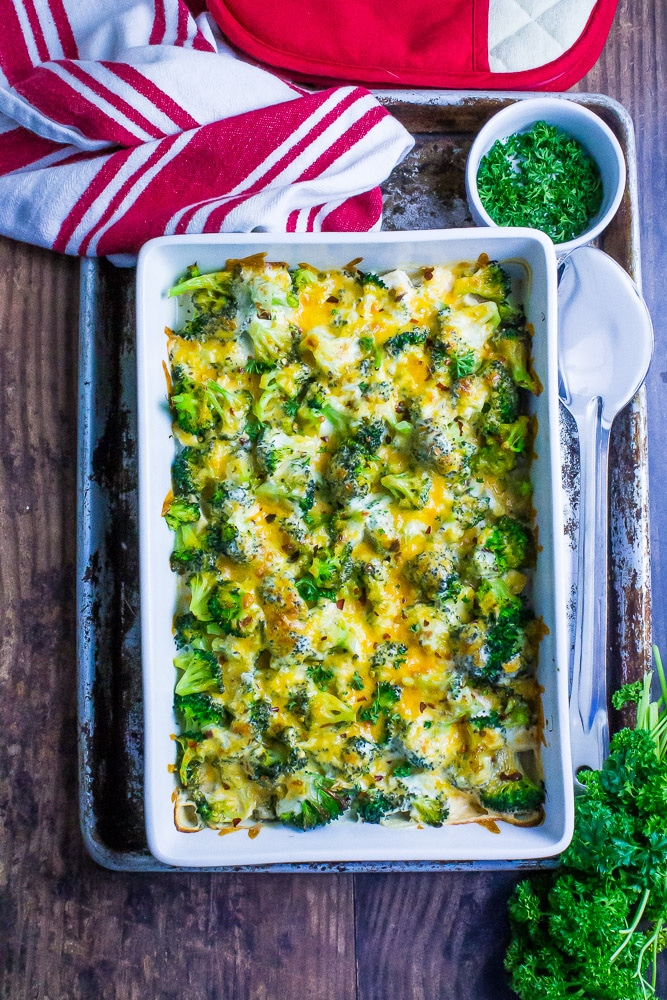 Broccoli Chicken Cheddar Casserole