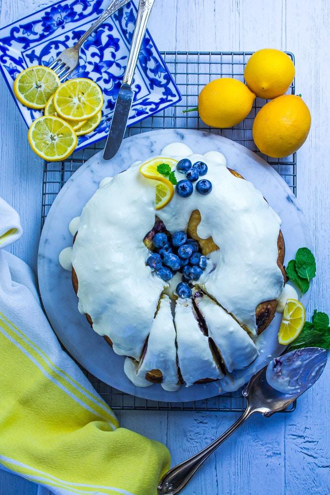 Keto cake for lunch!  Love those LEMONS!!!!