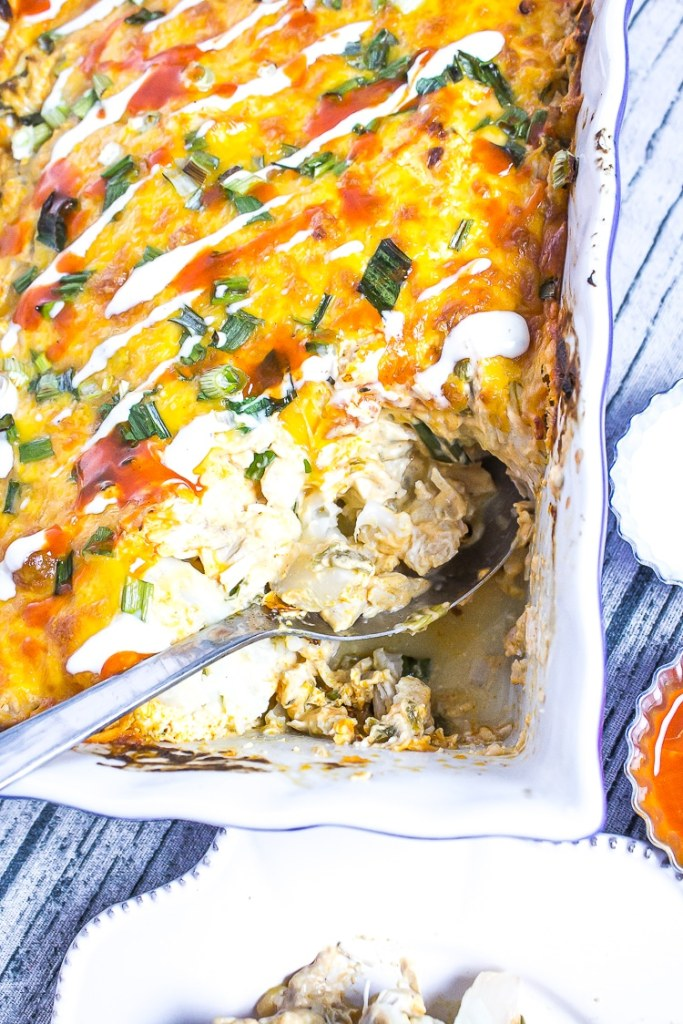 Low Carb Buffalo Chicken Casserole