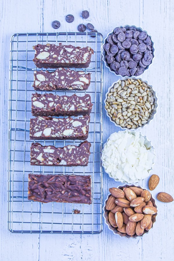 Keto Chocolate Crunch Bars