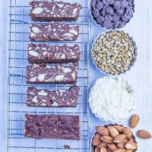 Keto Chocolate Crunch Bars