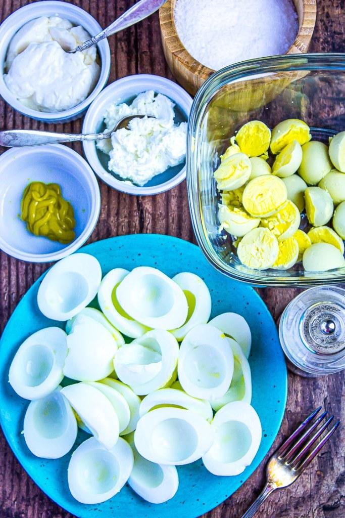 Ingredients for the BEST Keto Egg Salad