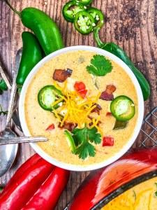 Chicken Jalapeno Popper Soup