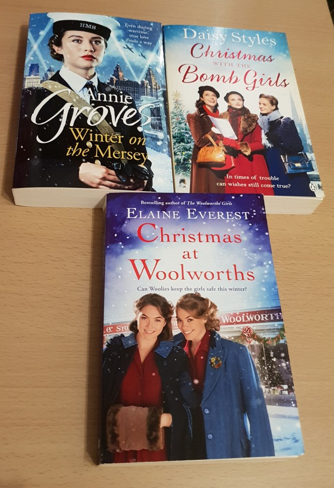 3 book covers as mentioned in this festive fiction books post.